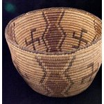 Native American Basket with Whirling Log Symbol